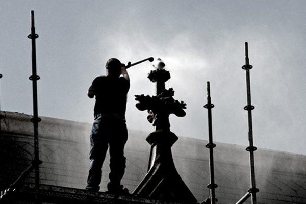 Heißdampfstrahlen_Denkmalpflege